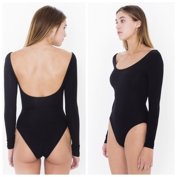 Black low back american apparel onesie acdabe282